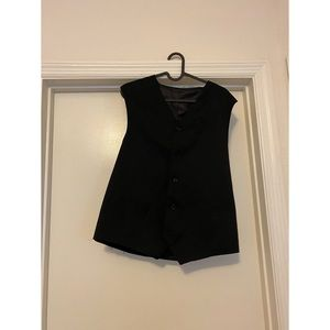 ‼️🔱Mens black vest with buttons